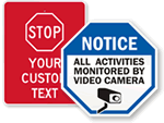 STOP – CCTV Monitored Signs