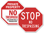 Stop No Trespassing Signs