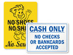 Store Policy Signs