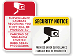 Surveillance Warning Signs