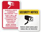 Surveillance Warning Signs