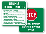 Tennis Court Signs