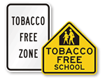 Tobacco Free Zone Signs
