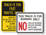 School Track Signs
