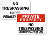 No Trespassing Under Penalty Of Law