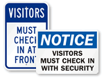 Durable Visitor Signs - Security Signs