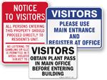 Visitors' Entrance Signs