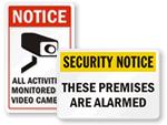 Security Alarm Signs