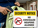 Wisconsin Concealed Gun Signs