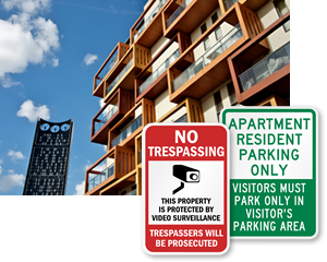 Apartment Security Signs