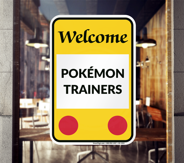 Pok 233 Mon Go Trainer Signs