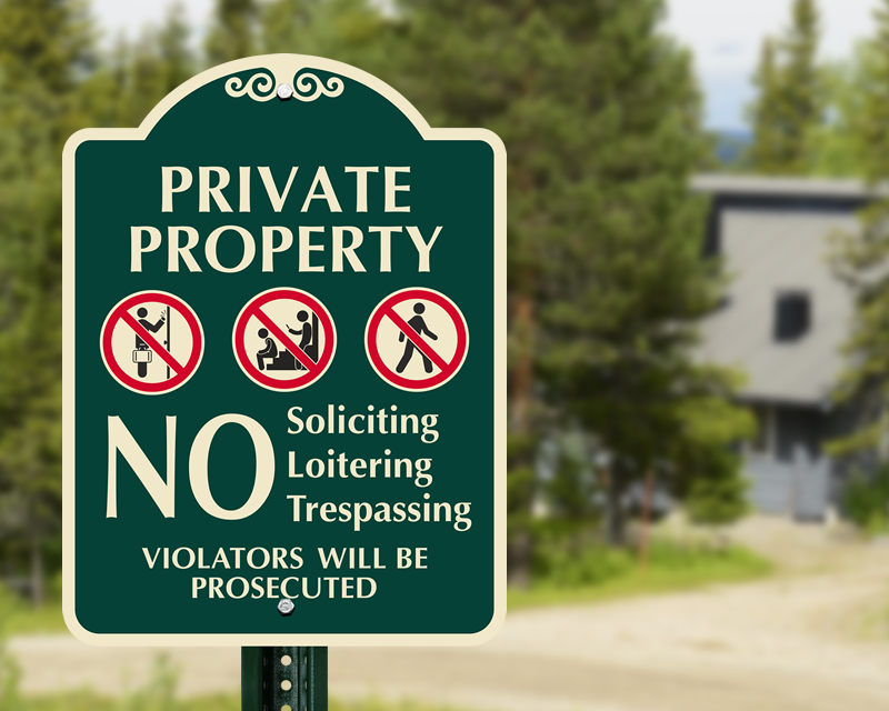 Designer Private Property Signs at Best Prices Online