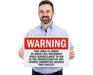 24-Hour Surveillance Warning Signs