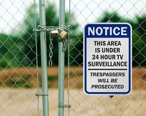 24 Hour Tv Surveillance Sign
