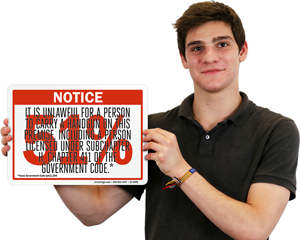 Unlawful Handgun Carry Sign Pursuant to Section 411.204