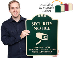 Area under video surveillance sign
