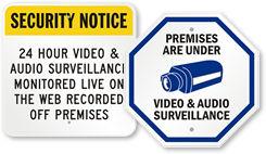 Audio Surveillance Signs