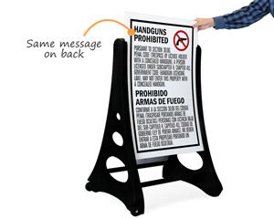 Bilingual Sidewalk Sign Kit