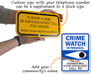 Custom Crime Watch Signs