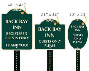 Custom designer signs in 3 sizes