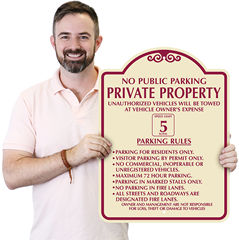 Custom Property Policy Signs