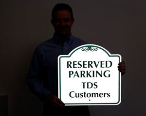 Custom reflective parking sign