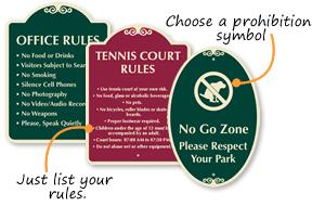Custom Rules Signs - SignatureSigns Templates