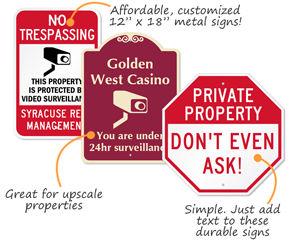 Custom Security Signs