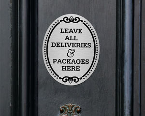 DiamondPlate Package Delivery Signs