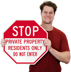 Do Not Enter Property Signs