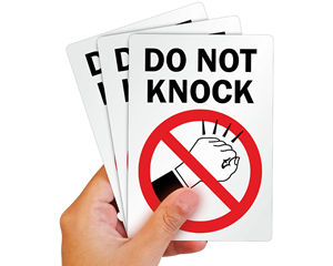 Do Not Knock Label