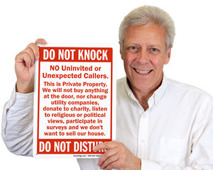 Do Not Knock Sign