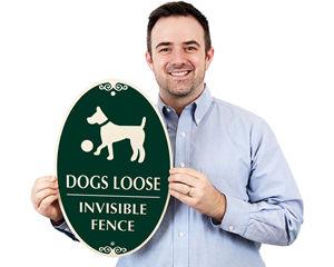 Dog Fence Sign