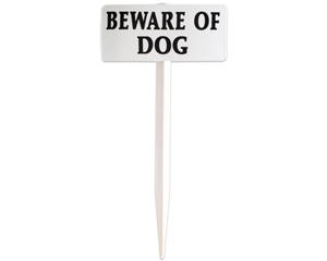 EasyStake Beware of Dog Signs