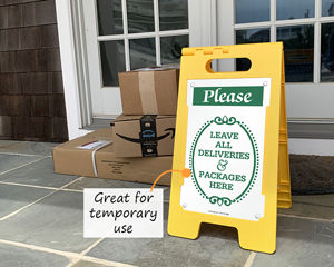 FloorBoss Package Delivery Signs