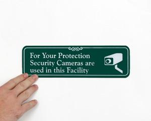Video Surveillance ShowCase™ Wall Sign