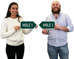 Golf Course Hole Sign