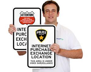 Internet Purchase Exchange Location Sign