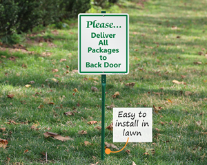 LawnBoss Signs Package Delivery Signs