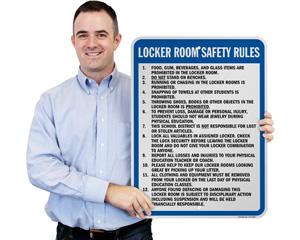 Locker Room Rules Sign
