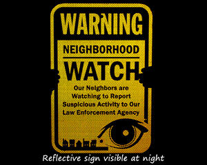 Reflective Neighborhood Watch Signs