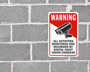Night Vision Camera Signs