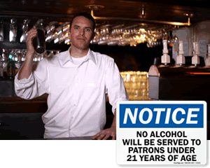 No Drinking Under 21 Signs