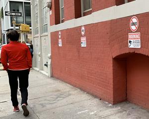No graffiti and cctv signs