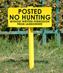 No Hunting without Permission Signs