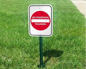 No pokemon trainers sign