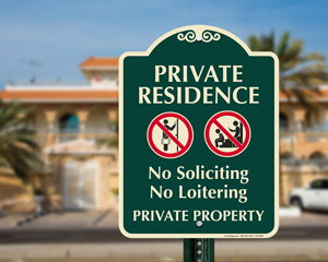 No soliciting private property sign