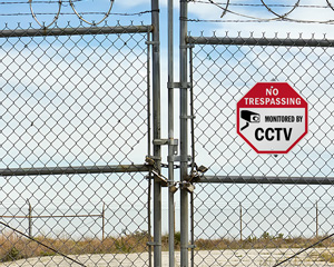 No Trespassing, Monitored By CCTV Sign