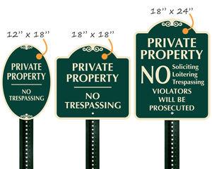 Designer No Trespassing Sign