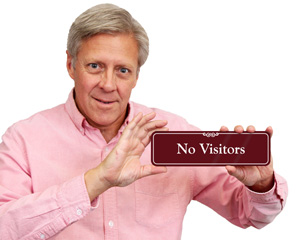 No Visitors Showcase Wall Sign